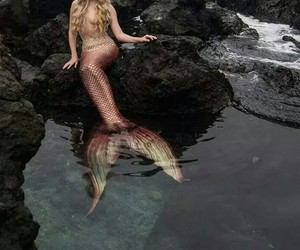 beautifull, blonde, and mermaid image