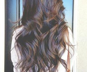 hair, brunette, and long hair image