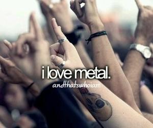 metal, love, and music image