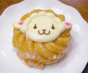 kawaii iced donut and sheep icing image