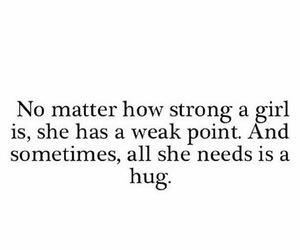 hug, girl, and strong image