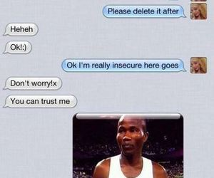haha, text messages, and funny image
