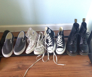 converse, doc martens, and grunge image