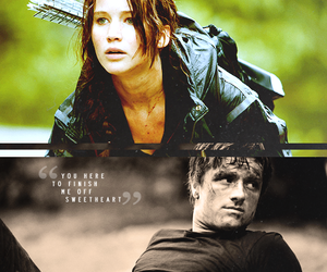 couple, girl, and the hunger games image