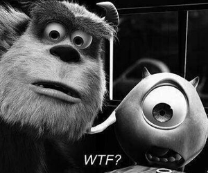 wtf, monster, and monsters inc image