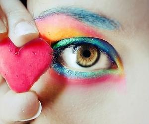 eye, heart, and eyes image