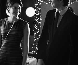 black and white, book, and Shailene Woodley image