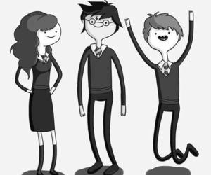harry potter, adventure time, and hp image