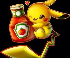 pikachu, cute, and ketchup image