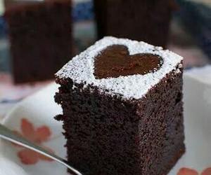 chocolate, cake, and heart image
