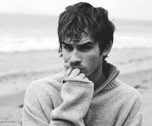 ian somerhalder, black and white, and sexy image