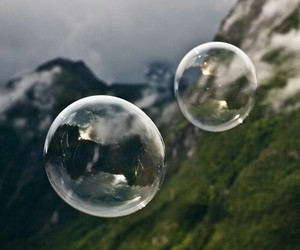 bubbles, nature, and mountains image