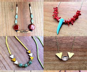blue, layering necklace, and turquoise image