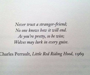 1969, quote, and little red riding hood image