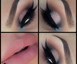 blue, girls, and makeup image