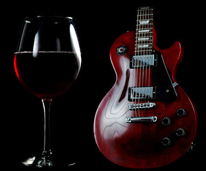 electric, grape, and guitar image
