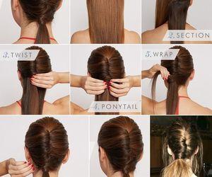 hair, tutorial, and diy image