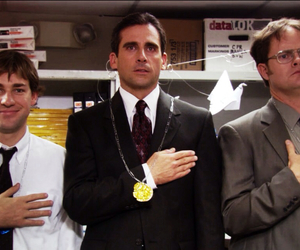 dwight, jim halpert, and the office image