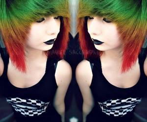 alternative, colorfull hair, and green hair image