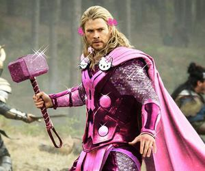 thor, pink, and hello kitty image