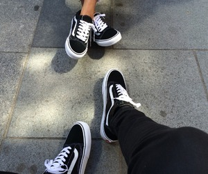 black and white, classic, and shoes image