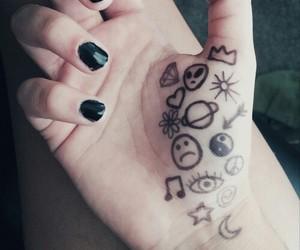 grunge, black, and nails image