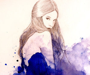 girl, drawing, and painting image
