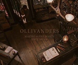 harry potter, magic, and ollivanders image