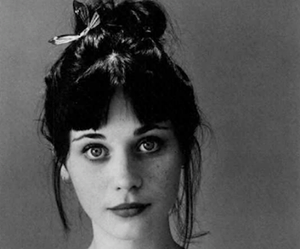 zooey deschanel and black and white image
