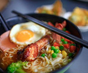 egg, food, and noodles image