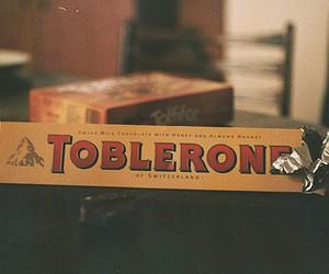 toblerone, chocolate, and vintage image