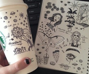 drawing, grunge, and art image