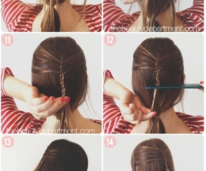 cabelo, trança, and penteados image