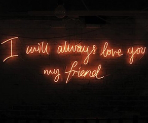 love, friends, and neon image