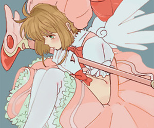 anime girl, sakura, and sakura card captor image