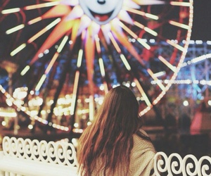girl, light, and disneyland image
