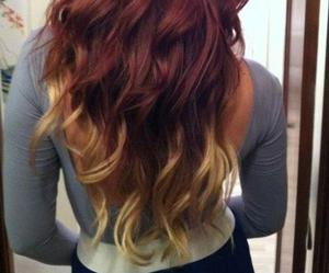 hair, ombre, and waves image