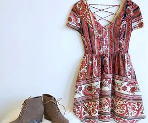 boots, dress, and cute image