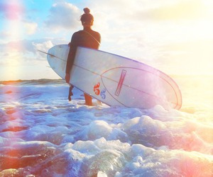 beach, summer, and vibe image