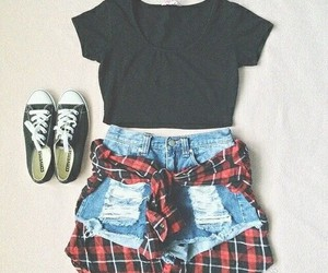 outfit, punk, and cute image