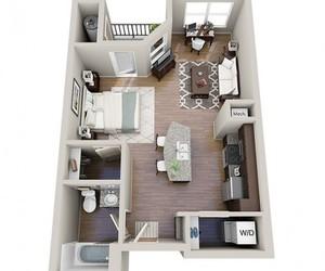 apartment, studio apartment, and house image