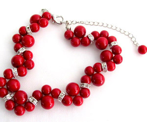 bracelet, fashion, and red jewelry image