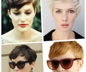 boyish, hair, and pixie cut image