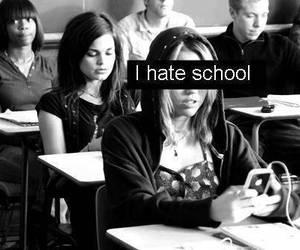 school, sucks, and i hate school image