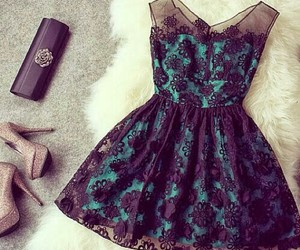 dress, outfit, and black image
