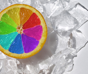 orange, colors, and ice image