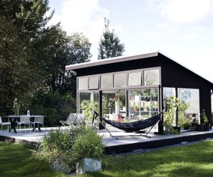 building, garden house, and hammock image