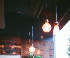 cafe, interior, and lights image