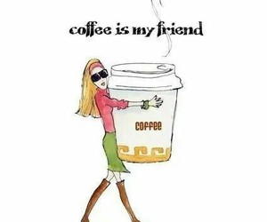 coffee, friend, and morning image