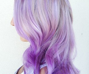 purple hair, lavender hair, and ombre hair image